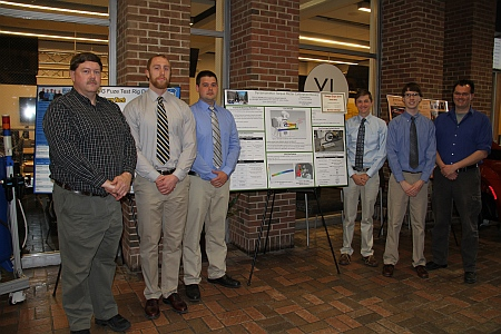 Honorable Mention – Dynamometer Calibration Device Team Members: Kristopher Benaglio, Christopher DeGroot, Adam Deibler, Kenneth Smith, Mechanical Engineering Advisor: Paul van Susante, Mechanical Engineering-Engineering Mechanics Sponsor: John Deere