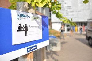 ISMA 2018 conference sign outside