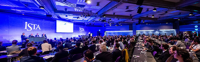 ISTA 2018 showing the conference audience and stage.