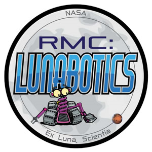 Lunabotics logo with robot cartoon