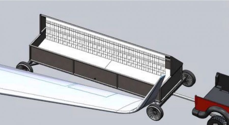 Glycol Collection Cart illustration.