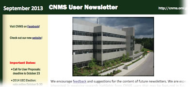 CNMS User Newsletter