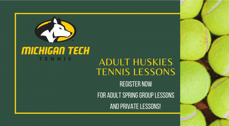 Michigan Tech Tennis Adult Huskies Tennis Lessons