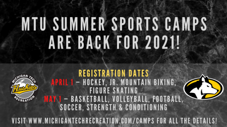 MTU Summer Sports Camps are BACK for 2021!