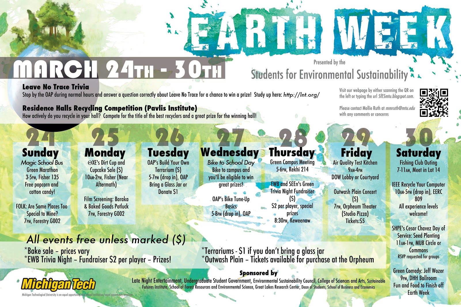 Earth Week 2013 | College of Sciences and Arts