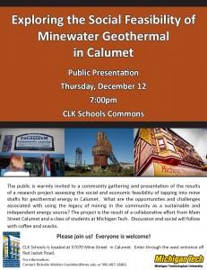 Minewater Geothermal Presentation Invitation