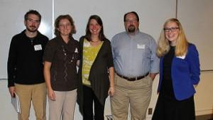 Jonathan Robins, Kari Henquinet, Sarah Fayen Scarlett, Steve Walton, Laura Walikainen Rouleau   Photo by MTU College of Engineering