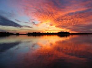 Les Cheneaux sunset