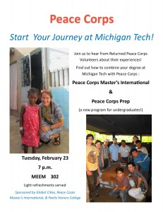 Returned Peace Corps Volunteer Panel 2.23.16