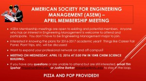 ASEM Meeting Announcement April 13