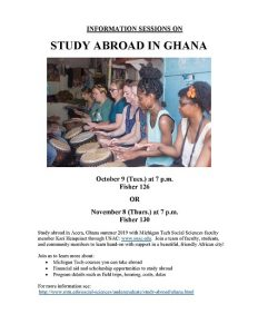 Ghana Study Abroad Info Sessionsabc