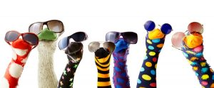 hand puppets with sunglasses