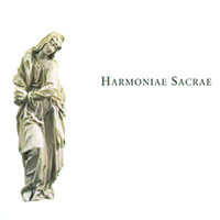 Marble statue with Harmonae Sacrae text