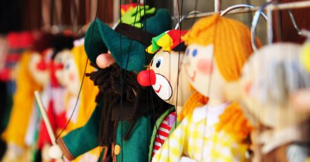 puppets lined up