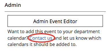 Adding an Existing Event