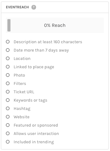 EventReach Score window