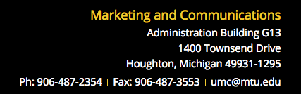 Example footer contact information.