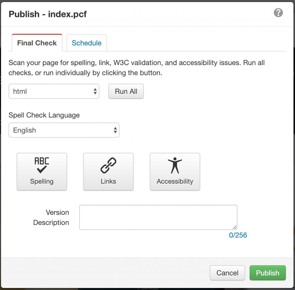 publish window
