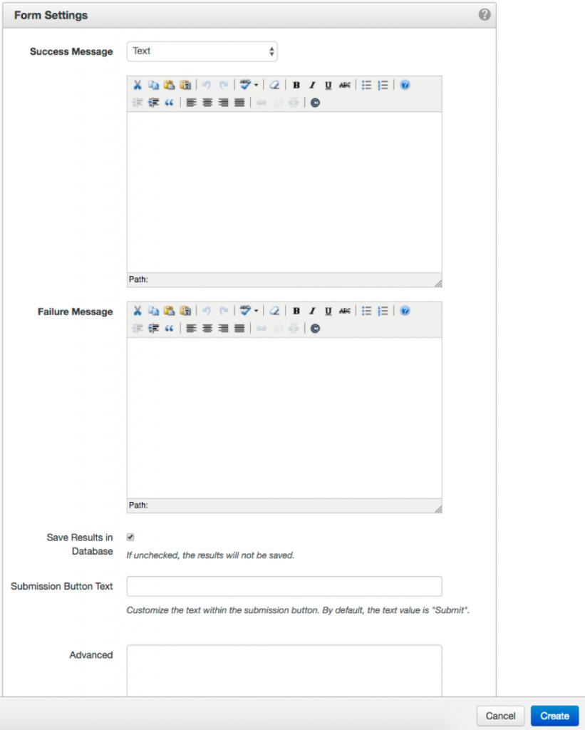 form-settings