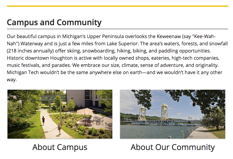 Campus and Community global asset content.