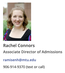 Example of Rachel Connors contact-sidebar layout.