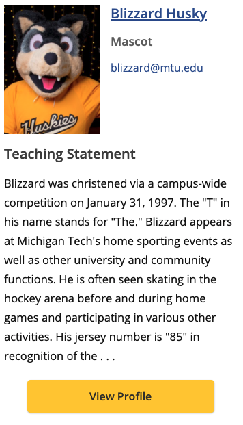 """""""teaching-statement"""" layout of the Faculty/Staff Content Single snippet."""