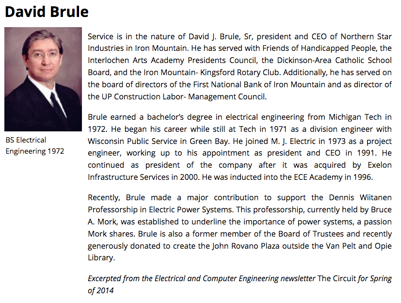Individual alumni profile page.