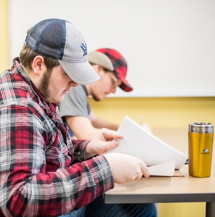 Students in the Walker Arts and Humanities Center