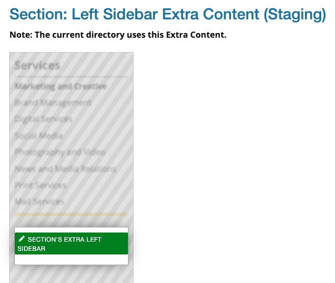 Extra Left Sidebar Editable Region in a props file.