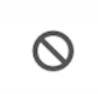 File status icon for a file scheduled to expire—circle with a line through it.