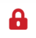 File status icon for a file that someone else has checked out—red padlock.