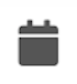 File status icon for a file scheduled to publish—calendar icon.