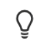 File status icon for a page not checked out—lightbulb outline.