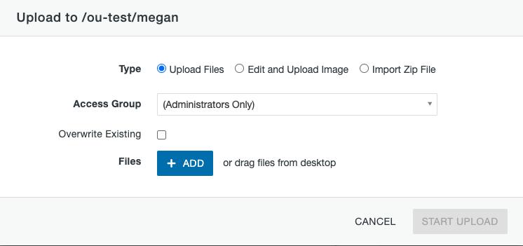 File Upload window.