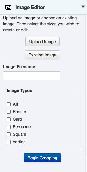 Image Editor sidebar gadget.