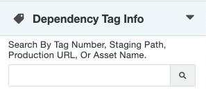 Dependency Tag Info right sidebar gadget.