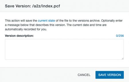 Save Version window.